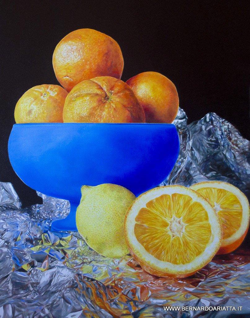 Bernardo ariatta pittore iperrealista nel blu