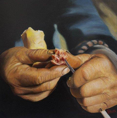 corsi di pittura Giannina Gobatto Pane e salame