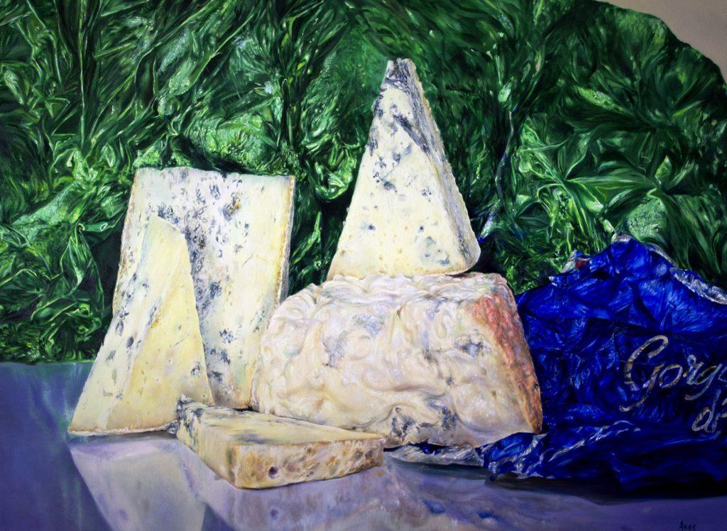 Bernardo ariatta pittore iperrealista sua maestà il gorgonzola